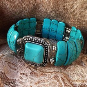 Bracelet Natural Howlite Stone
